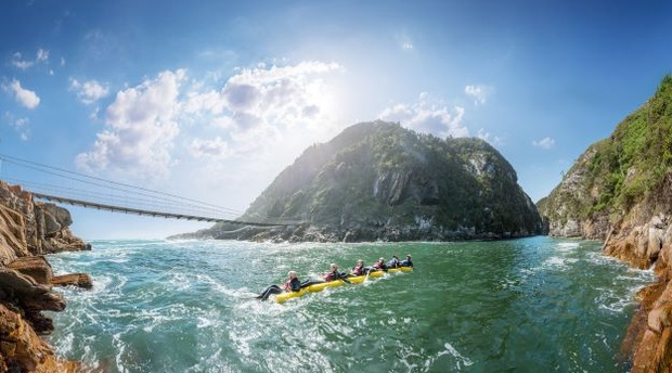 Day tours and adventure activity Kayak and lilo tours Port Elizabeth to Garden Route Tsitsikamma National Park Storms river mouth suspension bridge